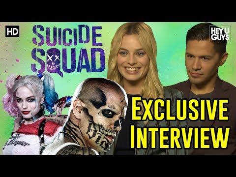 Margot Robbie (Harley Quinn) & Jay Hernandez (Diablo)  Suicide Squad Exclusive Movie Interview