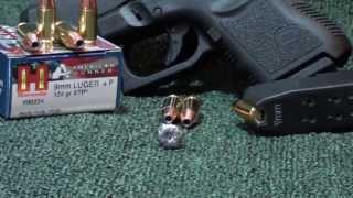 Hornady 124gr XTP American Gunner Ballistic test