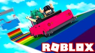 THE TOBOGAN WITH THE WORLD'S BIGEST CARS à ROBLOX 😂