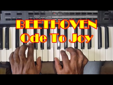 Beethoven Ode To Joy Easy Piano Tutorial - How To Play