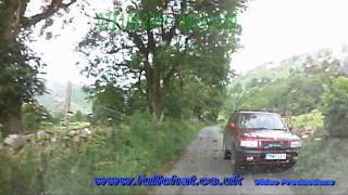 Speeded up Drive from Llanrhaeadr-ym-Mochnant to  Waterfall ( Pistyll Rhaeadr )
