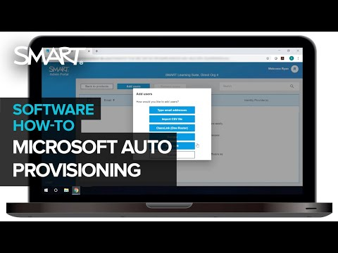 SMART Admin Portal: Auto-provisioning Teachers Through Microsoft (2020)