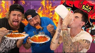 WORLD'S SPICIEST NOODLE CHALLENGE!!! (WITH JC'S DAD)