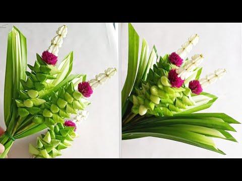 พับใบเตยดอกไม้ไหว้พระ Pandan Flowers