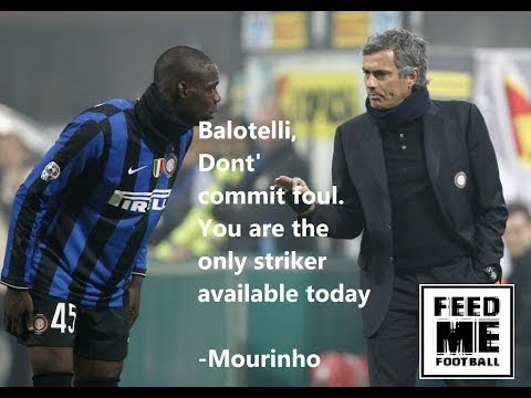 Mario Balotelli, No More cards for today- Begs Jose Mourinho !