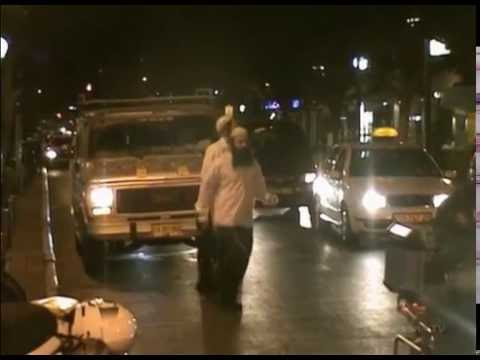 Only in TEL AVIV !    Trance Street  Dancing Hasidics