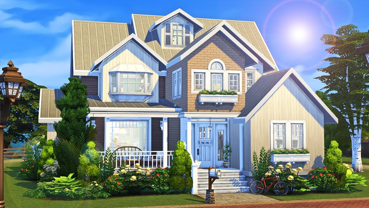 3 Generations 1 Big House 🏡 || The Sims 4 Family Home: Speed Build thumbnail