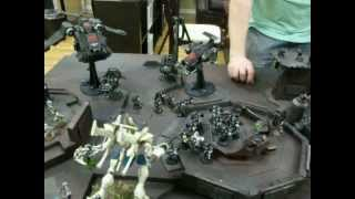 Ravenguard vs Eldar 02 40K Battle Report (spaceport)- Blue Table Painting