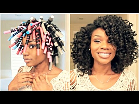 Natural Hair Flexi Rod Set For Big Hydrated Curls Using
