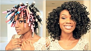 natural hair flexi rod set for big hydrated curls using entwine couture giveaway