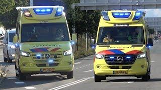 [02.07.2019] Politie Noodhulp B-Klasse & [IC-] Ambulances met spoed in Zwolle