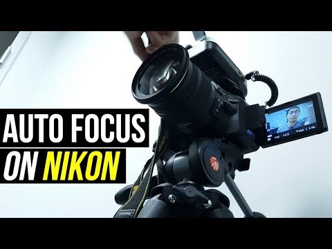 How To AUTOFOCUS Video On A Nikon D5200/D5300/D5500? (Best MOVIE Settings)