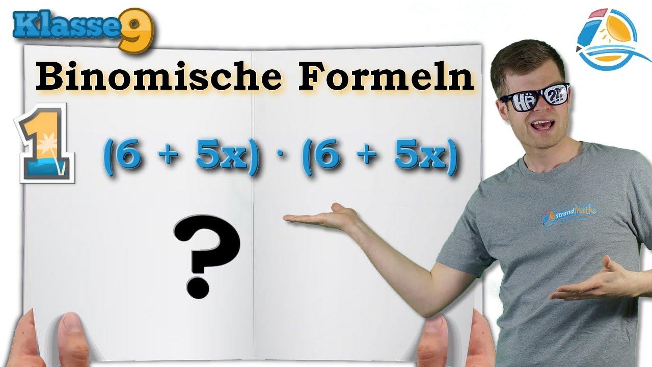Binomische Formeln rechnen || Klasse 9 ☆ Übung 1 - YouTube