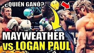FLOYD MAYWEATHER vs LOGAN PAUL ¿Quién ganó? La VERDAD + Opiniones | RESUMEN de PELEA COMPLETA 2021
