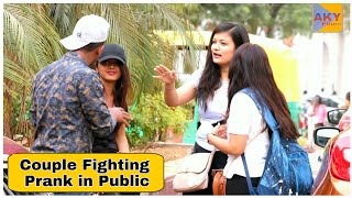 Couple Fighting Prank Part 3 In Public Ft-THF 2.0| AKY FILMS |