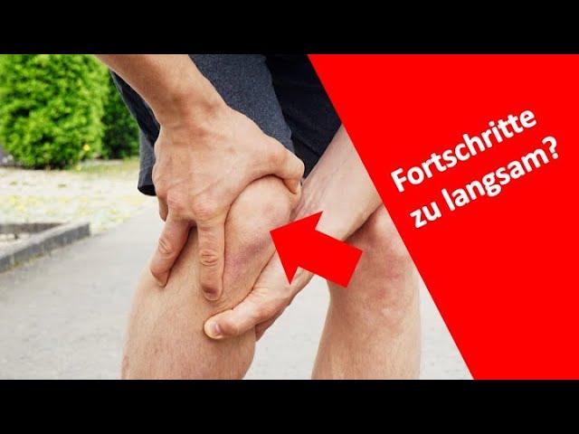 Woran erkennt man, dass Fortschritte nach der Knieoperation zu langsam sind?