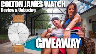 COLTON JAMES WATCH GIVEAWAY // Review and Unboxing