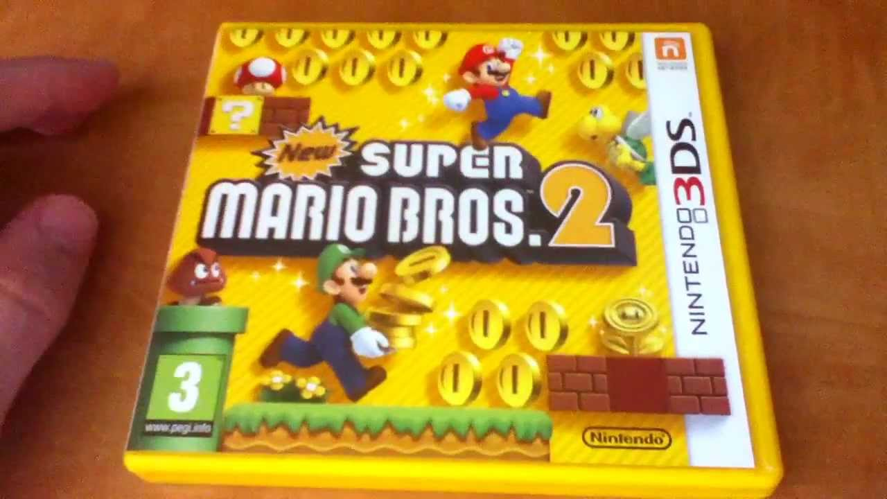Unboxing New Super Mario Bros 2 3ds En Espanol Youtube