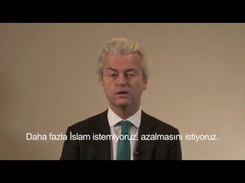 Geert Wilders tells Turks: Turkey not welcome in Europe