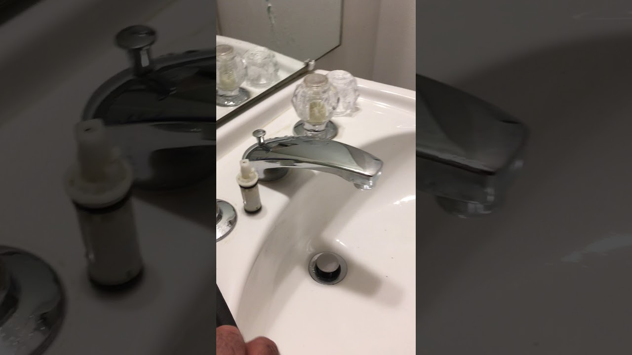 Bathroom Faucet leak fix- Older model Moen (bubble type) 91113 - YouTube