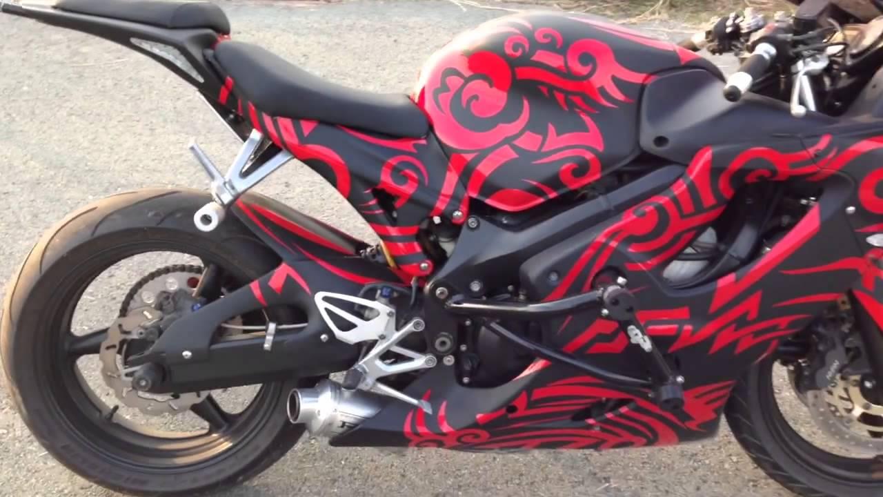 Honda 600 F4i >> Honda CBR F4i custom stunt bike - YouTube