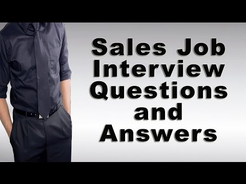 Sales Job Interview Questions and Answers - YouTube