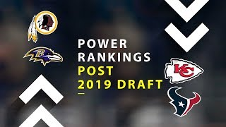 Post 2019 NFL Draft Power Rankings!
