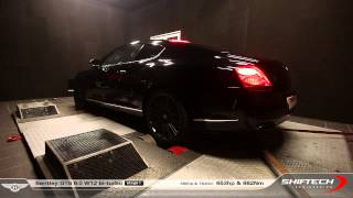 Reprogrammation moteur - Bentley Continental GT Speed 6.0 W12 @ 653hp - Pure sound on dyno