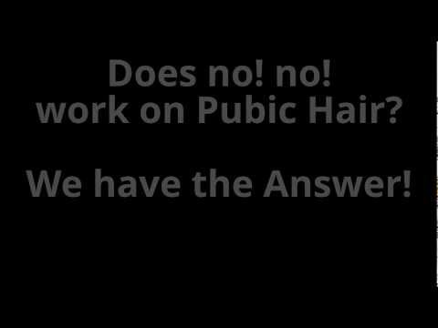 Does No No Work On Pubic Hair
