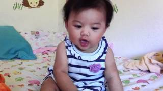 7 month old baby talking