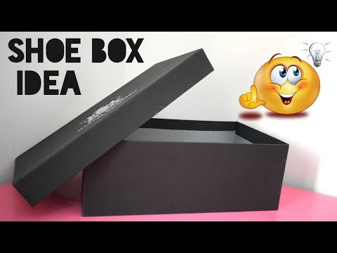 DIY Shoe Box Organizer   Great Home /Office Organizing Ideas   Best Way to Reuse Shoeboxes