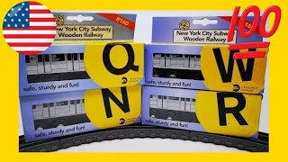 unboxing Munipals New York City Subway Line N Q R W  (05438 z)