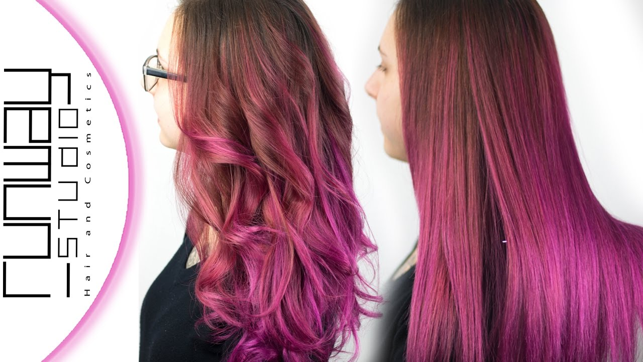 Pink Balayage Ombre Hair Color Runway Studio Youtube