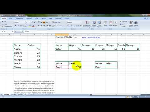 Learn MS Excel Lookup Formula Basics Hindi