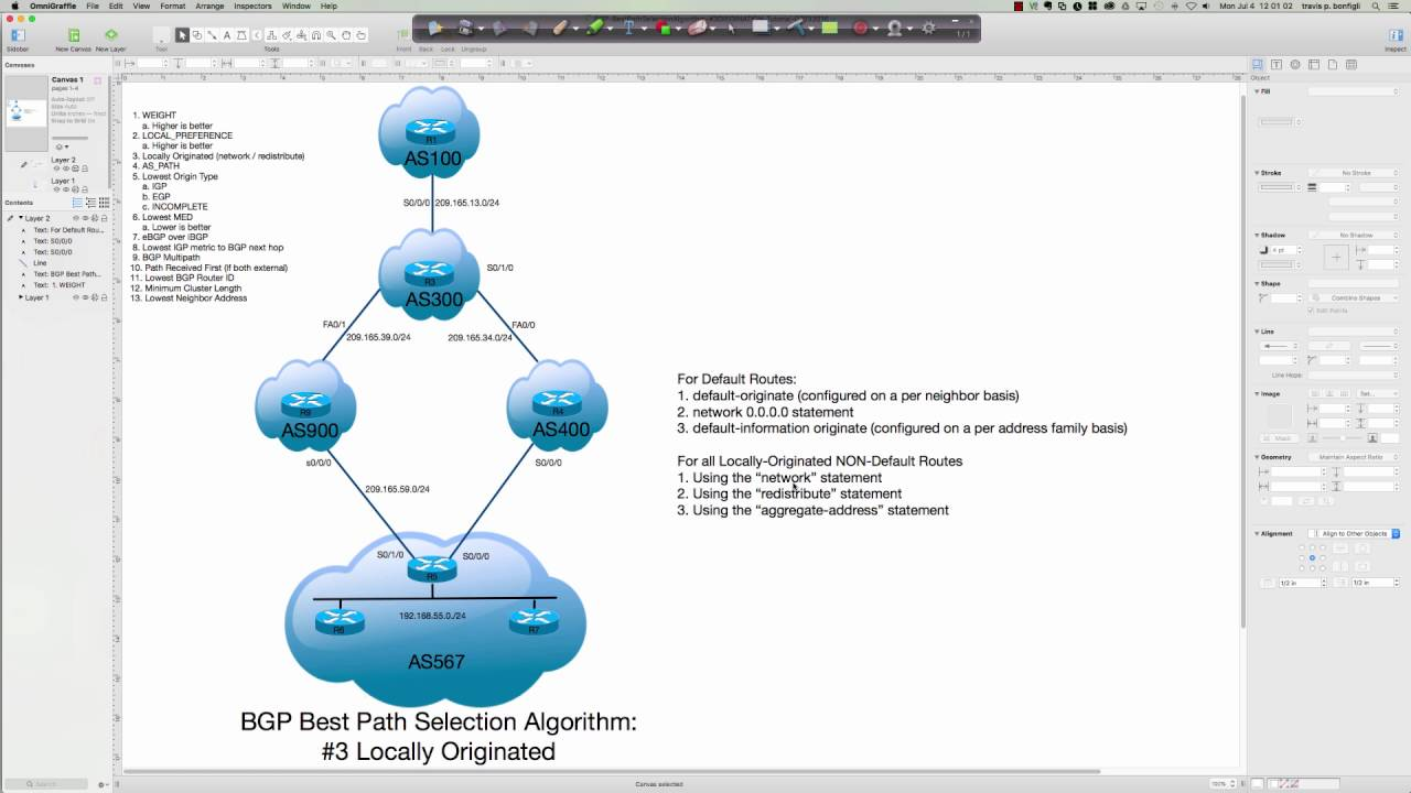 The BGP Best Path Selection Algorithm #3: Local Orig  (Default &  Non-Default Routes) - 07042016