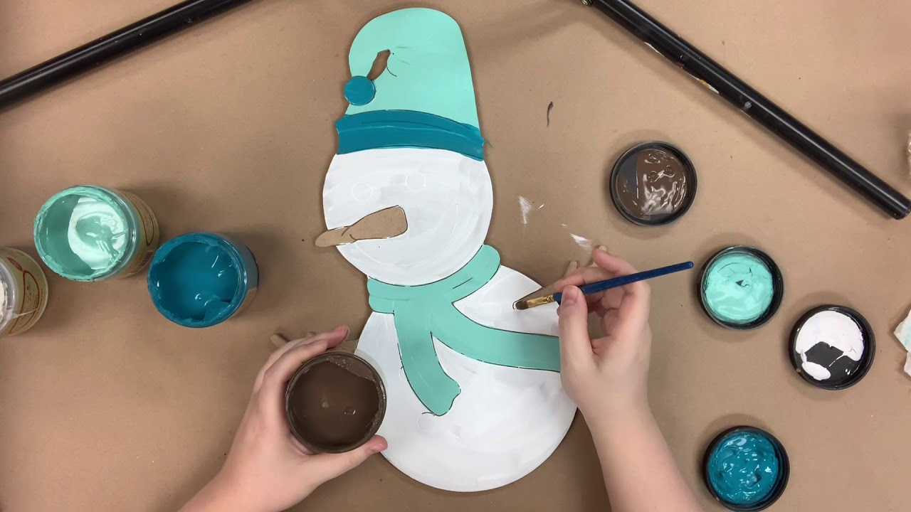 Cute Snowman Step by Step Video Tutorial s7h9