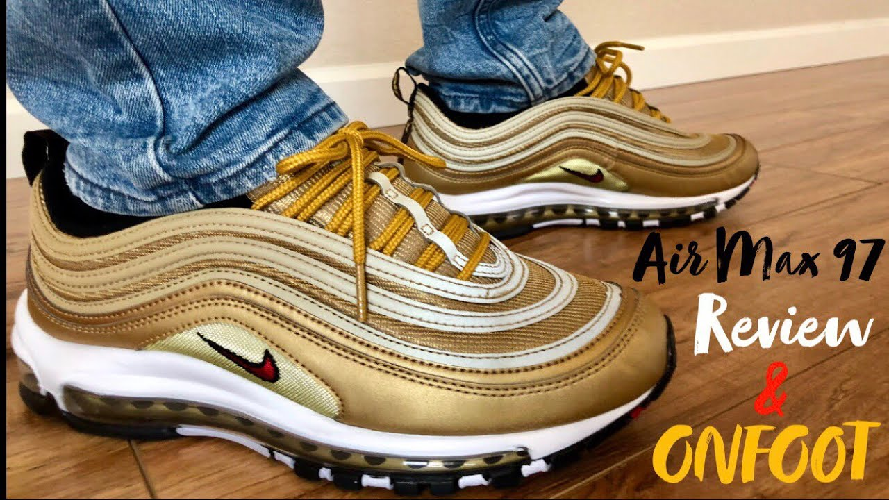 outlet store 109e6 88b20 Nike Air Max 97 Metallic Gold Review and Onfeet (2018 NIKE SNKRS APP RESTOCK )