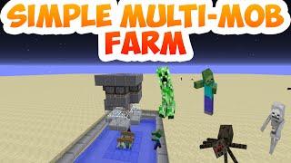 Simple Multi-Mob Farm 14w32d Iron Golem