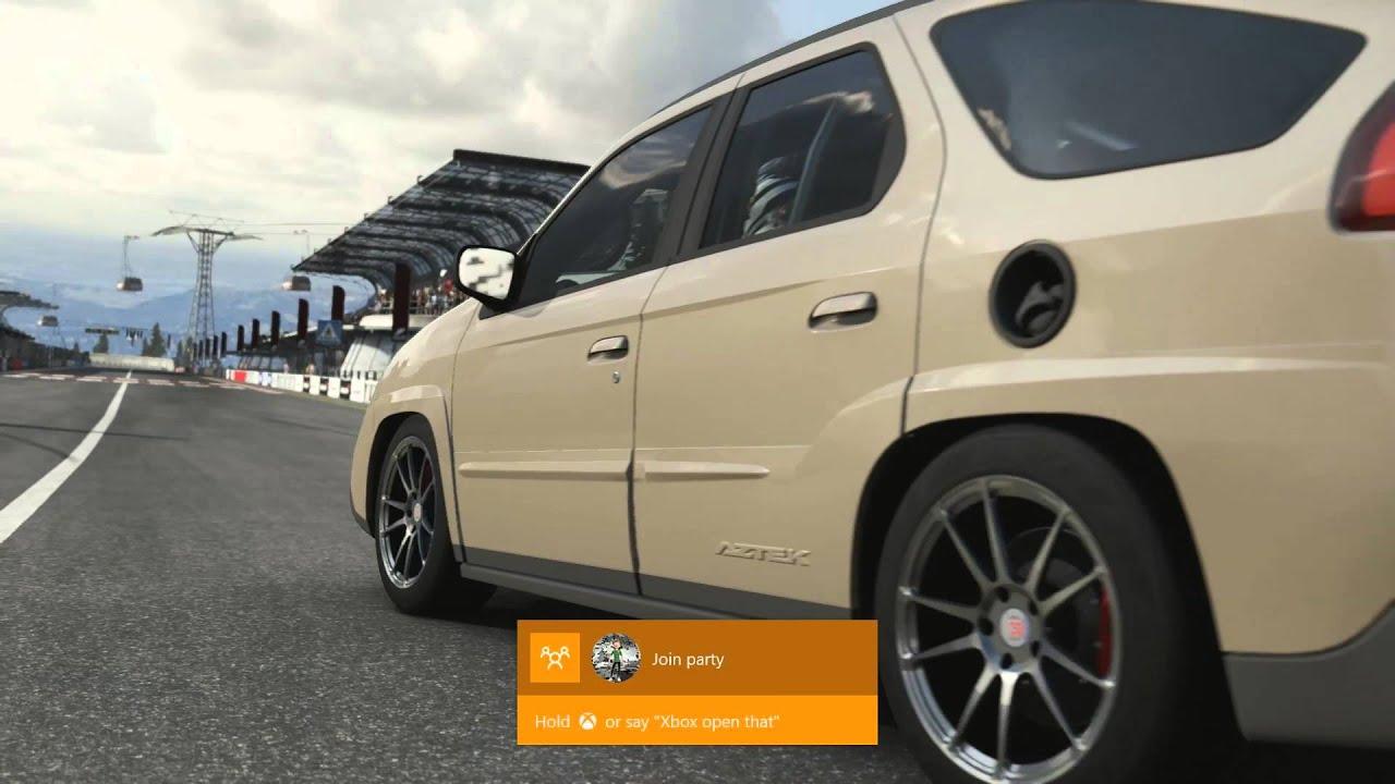Forza 6 Twin Turbo V8 Swap Pontiac Aztek Drift Build Youtube