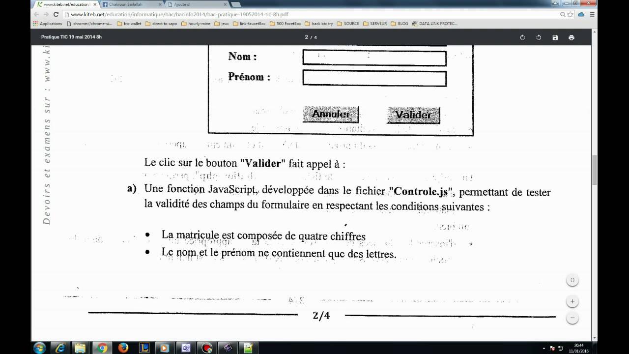 bac info t i c jacascript html - Resume Informatique Bac Science