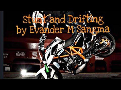 Bike Stunt And Drifting By Evander M Sangma