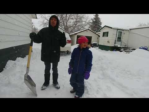 When the Blizzard Storm hit in Ogema SK Canada @ Winter 2018