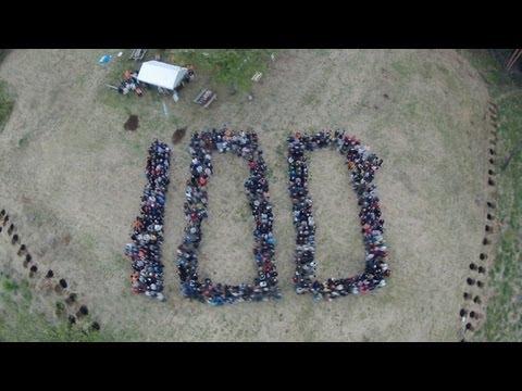 西武鉄道 100周年 人文字 西武の森 ほほえみの丘 飯能市