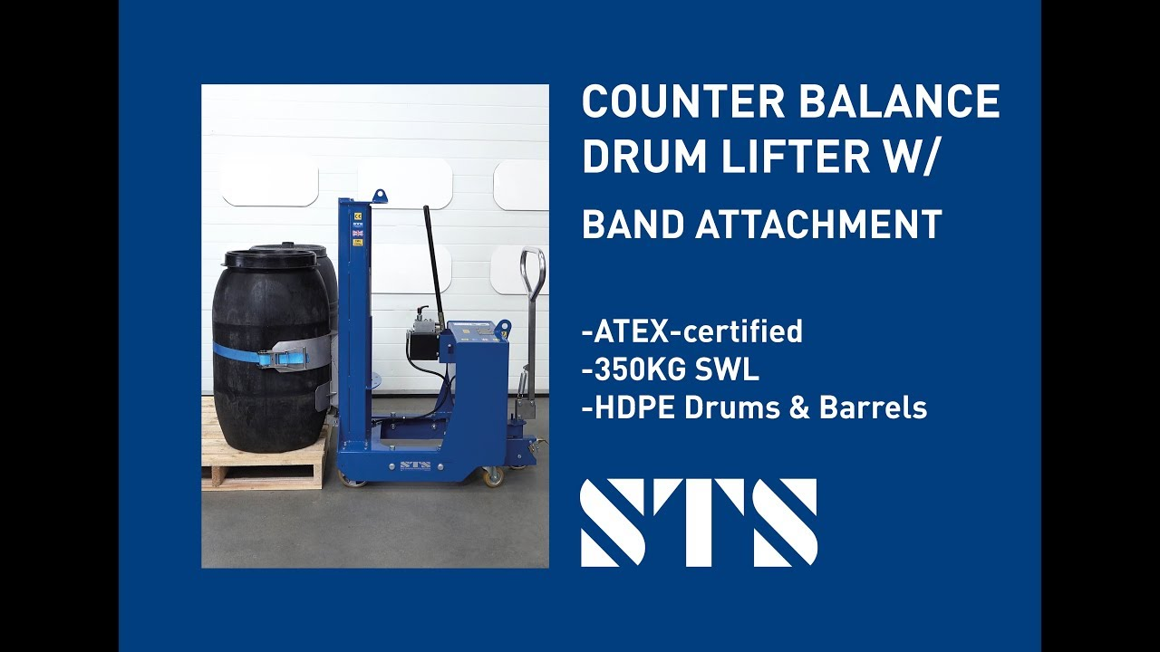 Counterbalance Drum Lifter for HDPE Drums & Barrels (High Density Polyethylene)