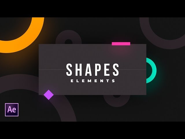 Shape Elements in After Effects  - AEJuice - After Effects Tutorial