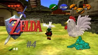 Vamos jogar - The Legend of Zelda: Ocarina of Time #4 - vamos pegar Galinhas, ou melhor, Cucos