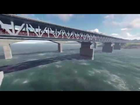 Rail Cum Road Bridge over River Ganga at Ghazipur