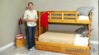 Ii Twin Over Full Bunk Bed With Stairs - Product Review Video