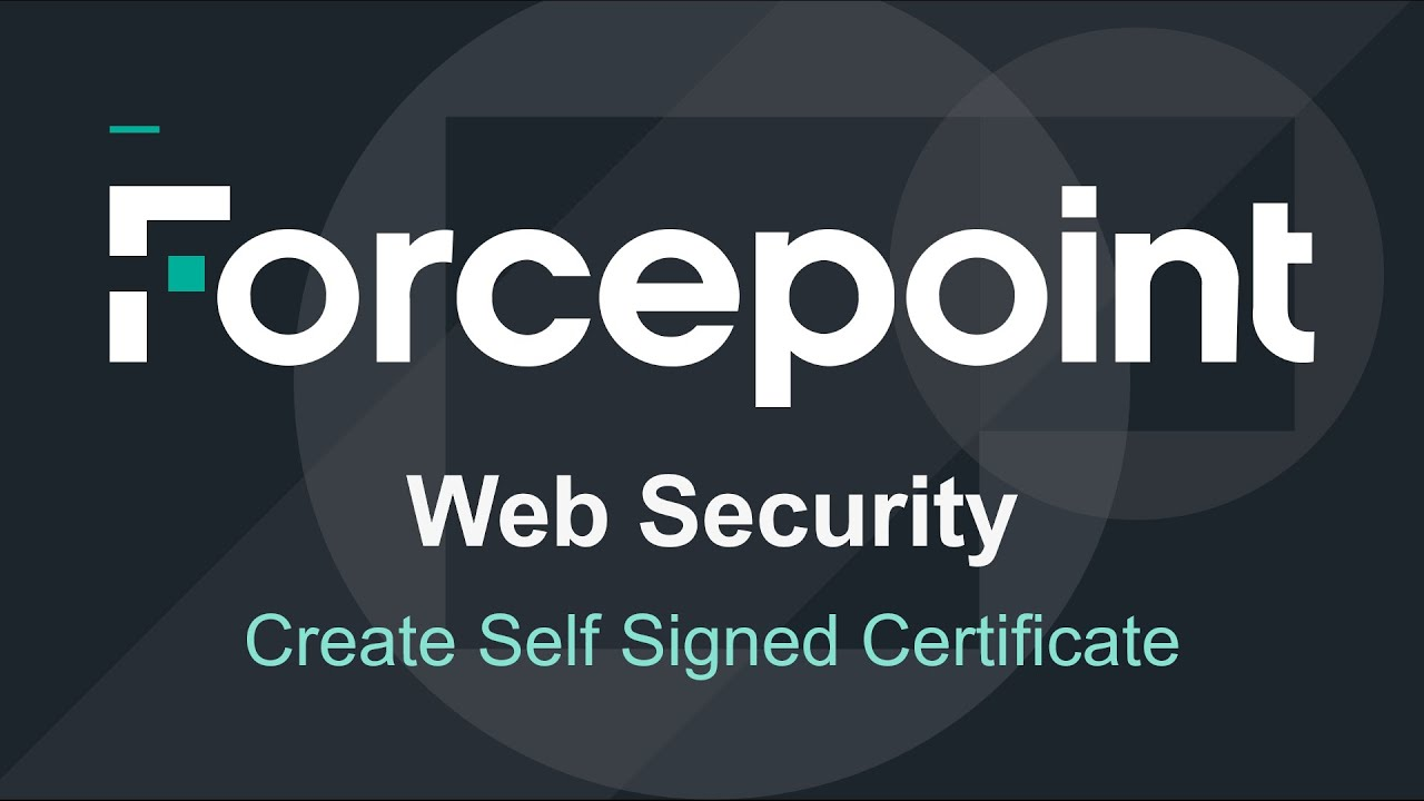 Forcepoint create a self signed certificate for https ssl forcepoint create a self signed certificate for https ssl decryption on web content gateway xflitez Image collections