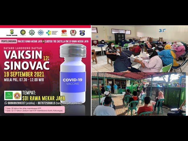 Lurah Rawa Mekar Jaya Usai Diserbu Vaksin Covid19